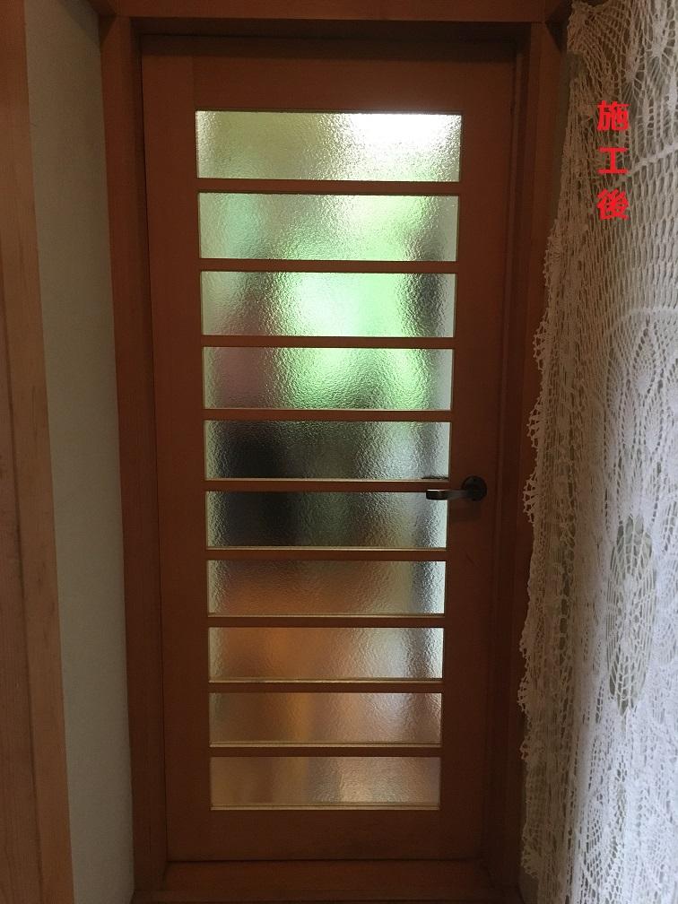 木製建具ガラス修繕(施工後)